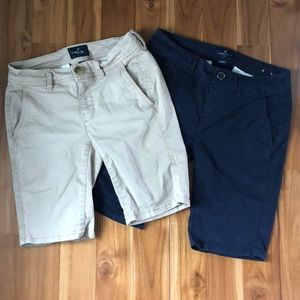 American Eagle Bermuda Shorts (2 pair)